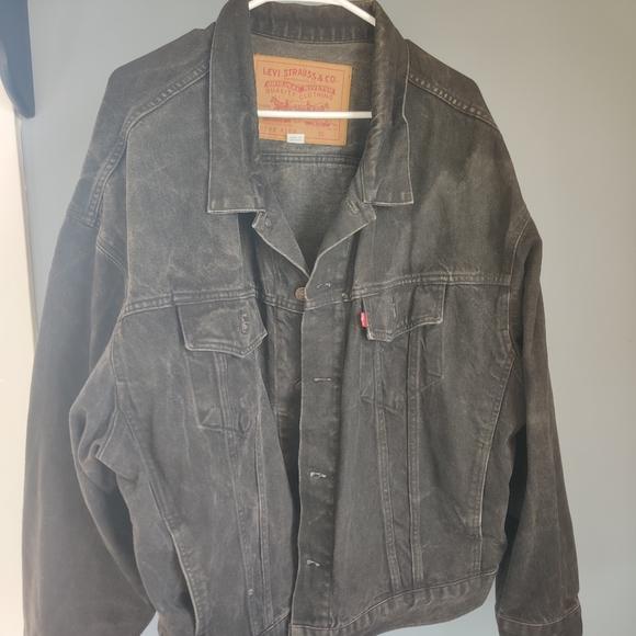 Vintage levis black denim jacket